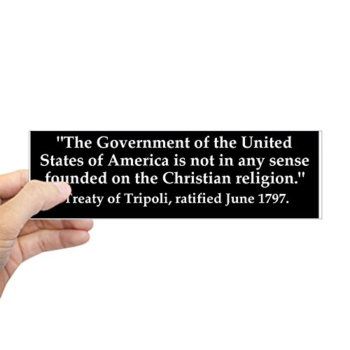 CafePress US Government Not Christian Bumper Sticker 10
