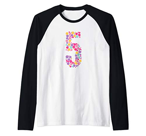 5 Years Old 5th Birthday Cool Gift Idea Raglan Baseball Tee -