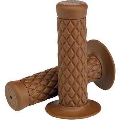 """Biltwell GR-BUN-78-CO Thruster Rubber 7/8"""" 22mm Grips (Pair), Chocolate Brown"""