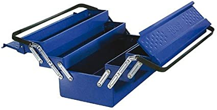 Caja de herramientas metálica 5 compartimentos-53 x 21 x 24,5 cm ...