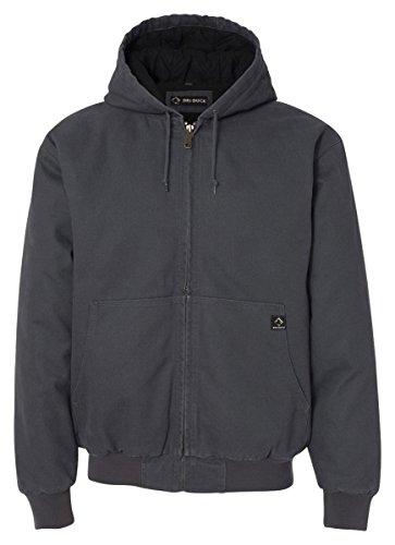 Novelty Knit Jacket - DRI Duck Men's 5020 Cheyenne Hooded Work Jacket, Charcoal, Small