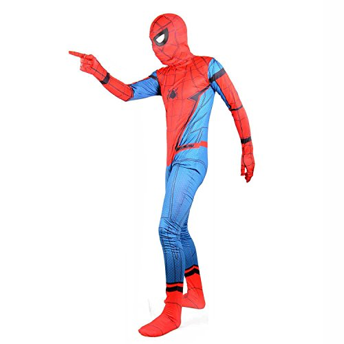 Red Superhero Suit Party Cosplay Halloween Costume Kids (Large)