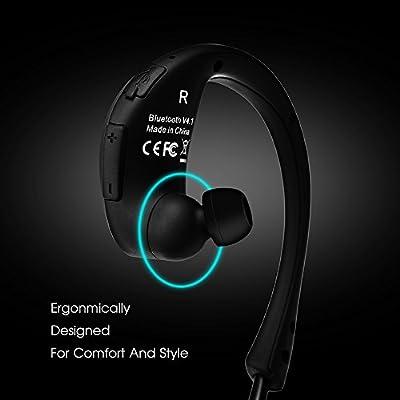 Mpow Cheetah Sport Bluetooth 4.1 Wireless Headphones Stereo Sport Running Gym Exercise Headsets Earphones-Retail Packaging-Black