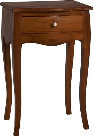 Macabane Nomadic Design 500910 Teak Wood Bedside Cabinet