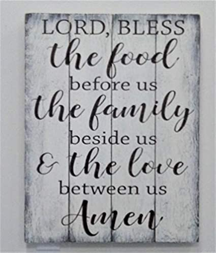 39cd5462d55 Image Unavailable. Image not available for. Color  Lord Bless The Food  Before Us Wood Pallet Sign Dining Room Wall ...