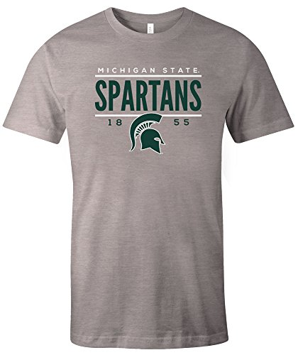 NCAA Michigan State Spartans Tradition Short Sleeve Tri-Blend T-Shirt, Athletic (Michigan State University Shorts)