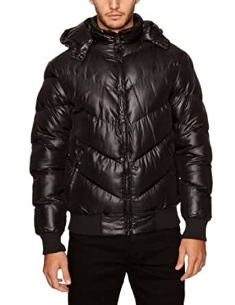 French Connection Men's Intense Wadded Puffer Jacket, Black, Small