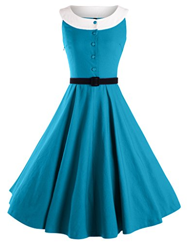 GownTown-Womens-50s-Vintage-Elegant-Neck-Bridesmaid-Swing-Dress