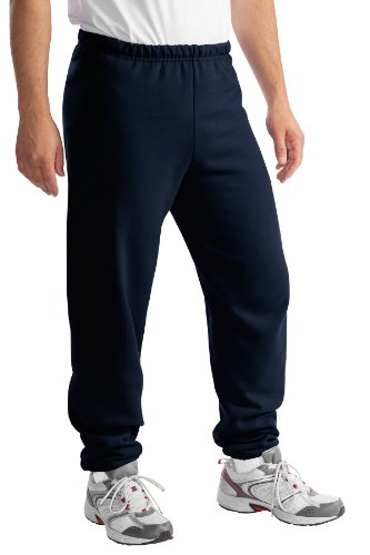Jerzees Cotton/Poly Sweatpants (No Pockets), 2XL Navy
