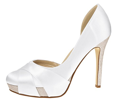 Zapatos Shoes Elsa Weiss Blanco White Coloured Mujer de Weiss White Para Vestir 565Eq
