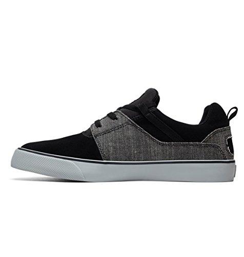 Vulc Heathrow grey Zapatillas Se Shoes Para Dc Black Hombre qEw1fC55P