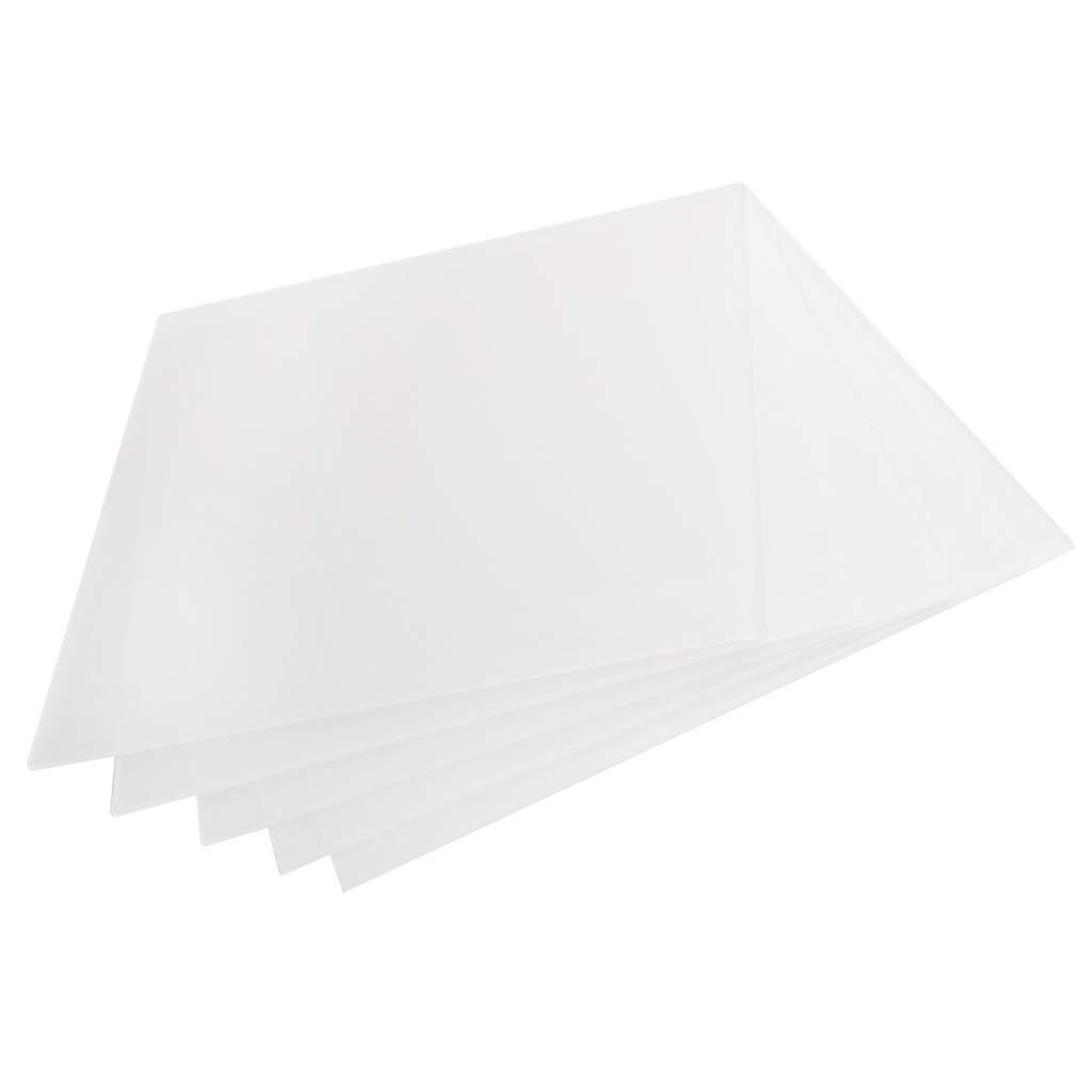 Sharplace 5 Pièces Plaque en Acrylique Transparent Feuille 200 x 200 x 2 mm – Cadre en Verre de Sécurité en Plastique