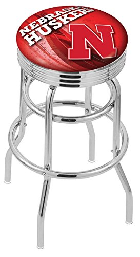 Holland Bar Stool Officially Licensed L7C3C University of Nebraska Swivel Bar Stool, 30