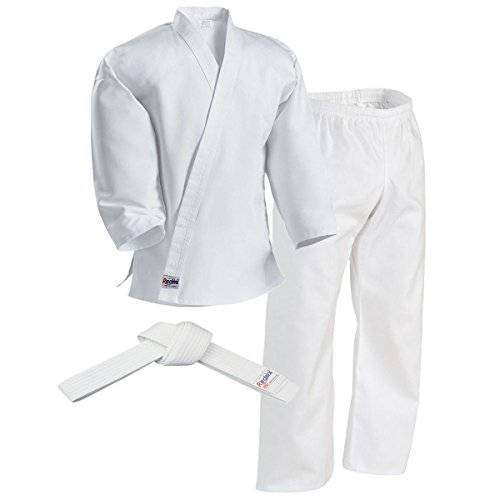 Redox Karate gi, Martial Arts Uniform for Adult, Child for Training, Lightweight/Size 0000~7, Elastic Waistband Pant & White Belt