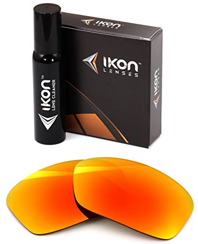 Polarized Ikon Iridium Replacement Lenses for Oakley Turbine Sunglasses - Fire Orange - Lenses Fire