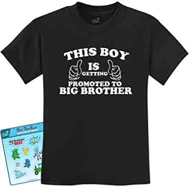 This Boy Is Getting Promoted To Big Brother Kids T-Shirt With Stickers fda89edb3