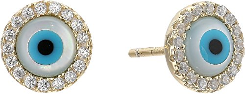 Earrings Disc Vermeil (SHASHI Women's Lilian Stud Earrings Gold One Size)