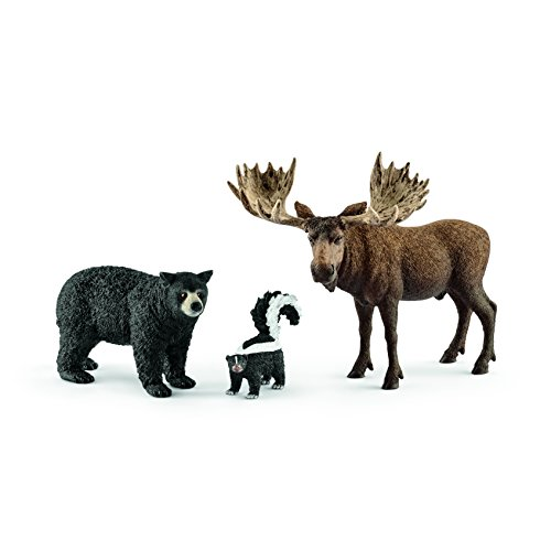 Schleich North American Forest Dweller Set (Birthday Cake Black Forest)