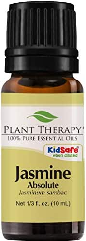 Plant Therapy Jasmine Absolute Essential Oil 100% Pure, Undiluted, Natural Aromatherapy, Therapeutic Grade 10 mL (1/3 oz)