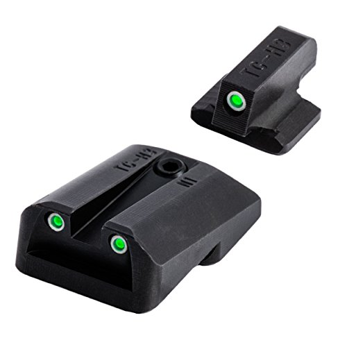 TRUGLO Tritium Handgun Glow-in-The-Dark Night Handgun Sights for 1911 Pistols, 1911-Cut .260 Front / .450 Rear (1911 5