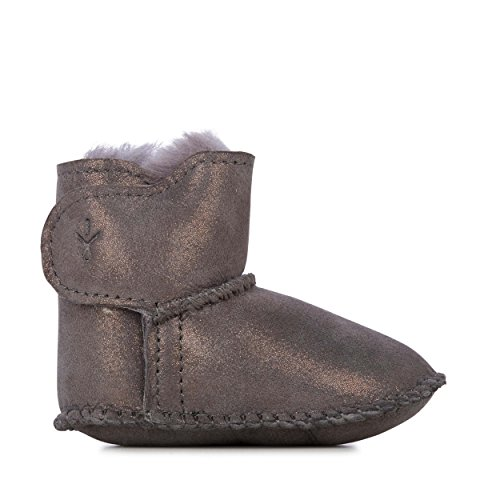 EMU Australia Babies Baby Bootie Metallic Winter Real Sheepskin Boots Size 12M - Emu Baby Bootie