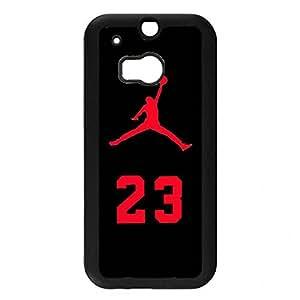 NBA Chicago Bull Michael Jordan Jordan Logo Htc One M8 Case,Jordan Phone Case Black Hard Plastic Case Cover For Htc One M8,Jordan Phone Case Cover