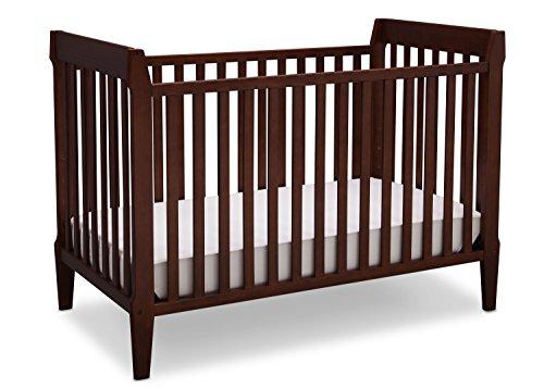 (Serta Mid Century Modern Classic 5-in-1 Convertible Baby Crib, Walnut Espresso)