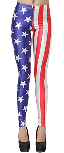Patriotic Themed Costume Ideas (Women's Lady's Digital Print Sexy Stretch Leggings)