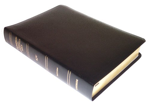 KJV - Black Bonded Leather - Regular Size - Indexed - Thompson Chain Reference Bible (025090)