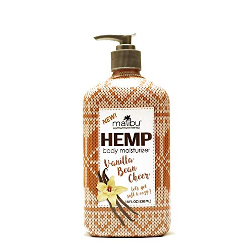 Malibu Hemp Body Moisturizer Vanilla Bean Cheer (18 fl oz) - New Holiday Scent