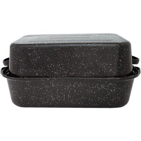 "Granite Ware F0511-3 21"" Covered Rectangular Roaster"