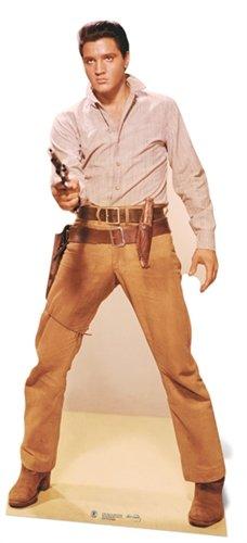 (Elvis Presley Cardboard Cutout Life Size Standup Gunfighter)