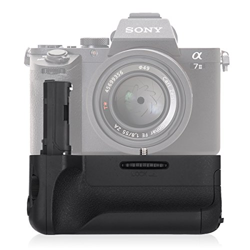 Powerextra VG-C2EM Battery Grip Replacement for Sony Alpha A7II/A7S II/A7R II Digital SLR Camera Work with NP-FW50 Battery (Grip Battery Replacement)