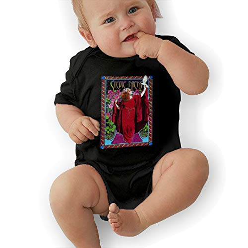 d7df6a6c Joshuaet Stevie Nicks Logo Cute and Interesting Newborn Baby Unisex Fashion  Bodysuit Black