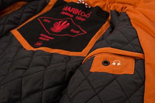 Calda Giacca Parka Invernale Da Donna B390 Cappotto Orange Marikoo waOREq