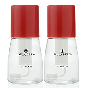 Paula Deen Set of 2 2 oz Glass Oil Mister Spray Bottles Red