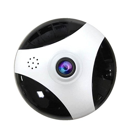 (LDFN IP Camera Wireless WiFi Indoor Security Camera Home Surveillance System Baby Pet Monitor, 360 Panorama Loop Record, Two-Way Audio, Motion Detect Alert,White+Black-3MP(focallength2.8mm) )