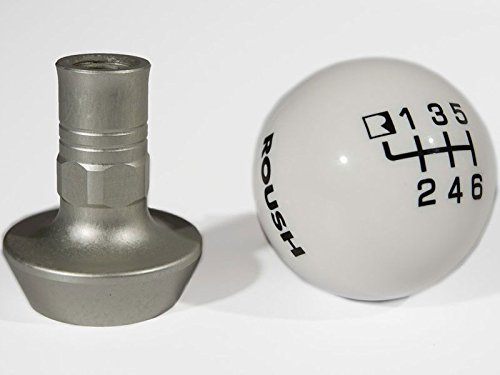 2010-2014 Ford Mustang ROUSH White Six Speed Shift Knob with Boot Retainer