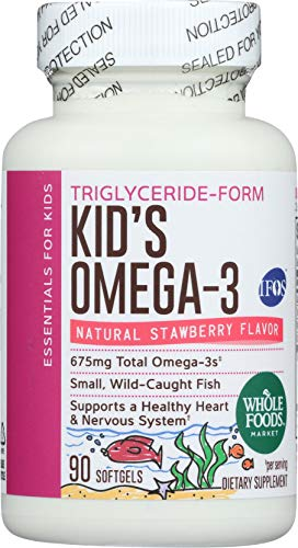- Whole Foods Market, Kids Omega 3 675 Mg, 90 Softgels