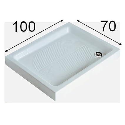 Ceramica Dolomite Piatto Doccia Onda.Piatto Doccia Rettangolare Rettango 100x70