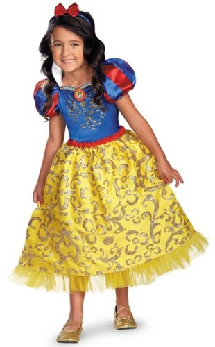 Disguise Disney's Snow White Sparkle Deluxe Girls Costume, 3T-4T from Disguise