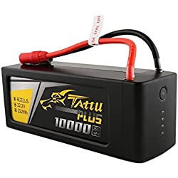 Tattu Plus LiPo Smart Battery Pack 10000mAh 22.2V 25C 6S with AS150+XT150 plug for UAV Drone Integrated with Smart BMS