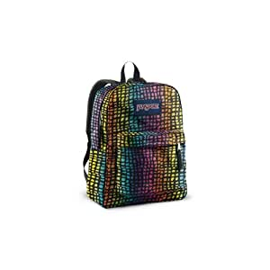 JANSPORT SUPERBREAK BACKPACK SCHOOL BAG - Black / Multi Reptile -9CT
