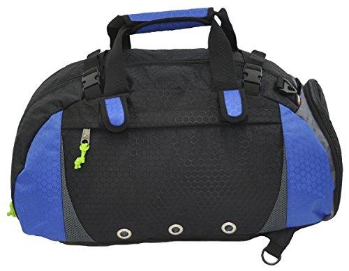 Amaro Warzone Convertible Travel Duffle Bag, Gym Bag, Cross Fit Bag, Fashion Gym Bag (royal)