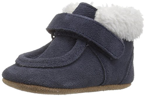 Robeez Boys' Sawyer Snuggle Bootie Boot, Navy, 6-12 Months M US Infant