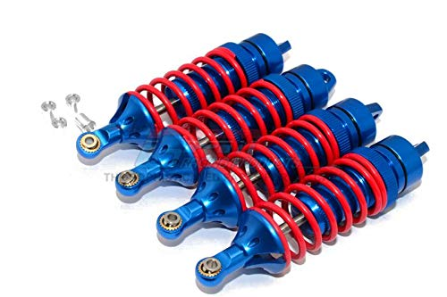 Damper End - GPM Traxxas Revo / Revo 3.3 / E-Revo Brushless / E-Revo VXL 2.0 Upgrade Parts Aluminum Front Or Rear Adjustable Spring Dampers (85mm) with Aluminum Ball Ends - 2Pr Set Blue