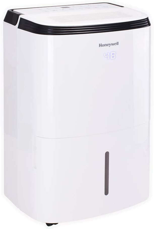 Honeywell 70 Pint with Built-In Pump Dehumidifier for Basement & Large Room Up to 4000 Sq Ft. with Anti-Spill Design, TP70PWK