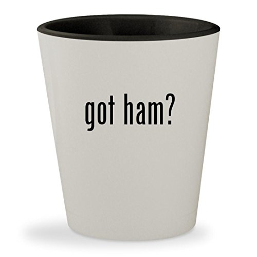 Transceiver Manual - got ham? - White Outer & Black Inner Ceramic 1.5oz Shot Glass