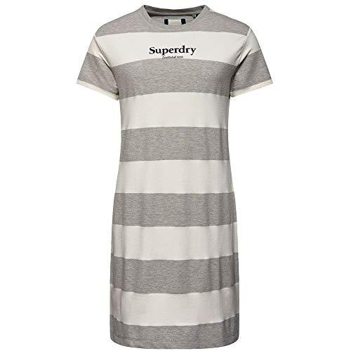 Superdry Mujer Vestido de Estilo Camiseta a Rayas Darcy
