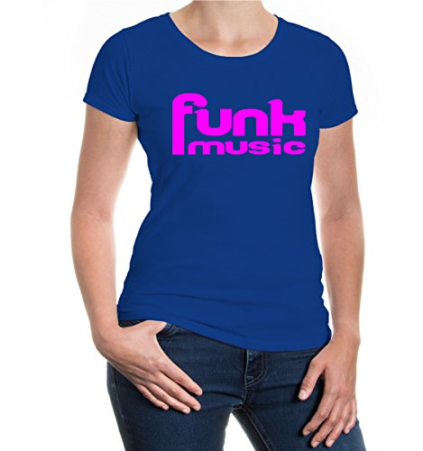 buXsbaum® Girlie T-Shirt Funk Music Royal